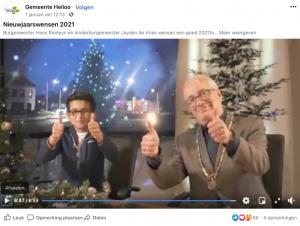 Burgemeesters Heiloo nieuwjaar 2021