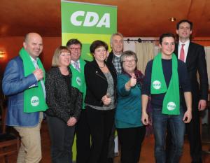 Wopke Hoekstra (rechts) samen met enkele CDA-kandidaten